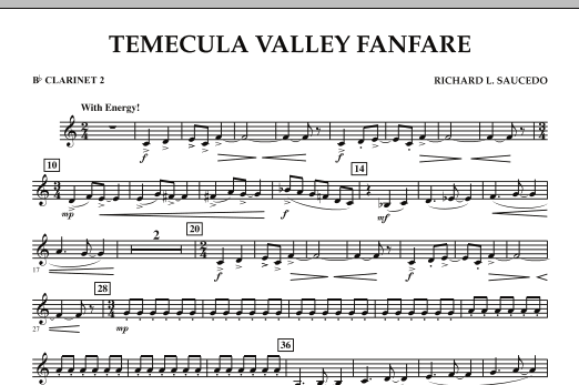 Temecula Valley Fanfare - Bb Clarinet 2 (Concert Band)