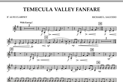 Temecula Valley Fanfare - Eb Alto Clarinet (Concert Band)