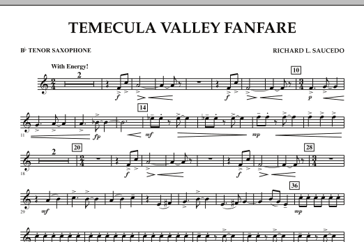 Temecula Valley Fanfare - Bb Tenor Saxophone (Concert Band)