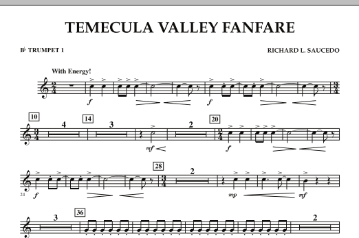 Temecula Valley Fanfare - Bb Trumpet 1 (Concert Band)