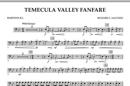 Temecula Valley Fanfare - Baritone B.C. (Concert Band)