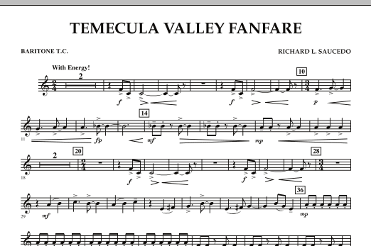 Temecula Valley Fanfare - Baritone T.C. (Concert Band)