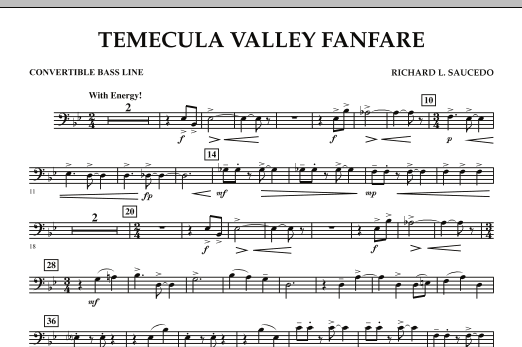 Temecula Valley Fanfare - Convertible Bass Line (Concert Band)