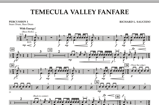 Temecula Valley Fanfare - Percussion 1 (Concert Band)