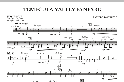 Temecula Valley Fanfare - Percussion 2 (Concert Band)