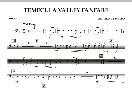 Temecula Valley Fanfare - Timpani (Concert Band)