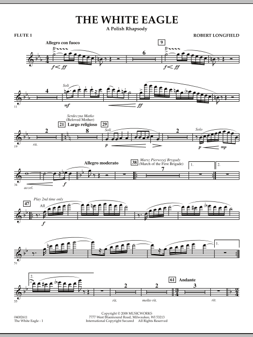The White Eagle (A Polish Rhapsody) - Flute 1 (Concert Band)