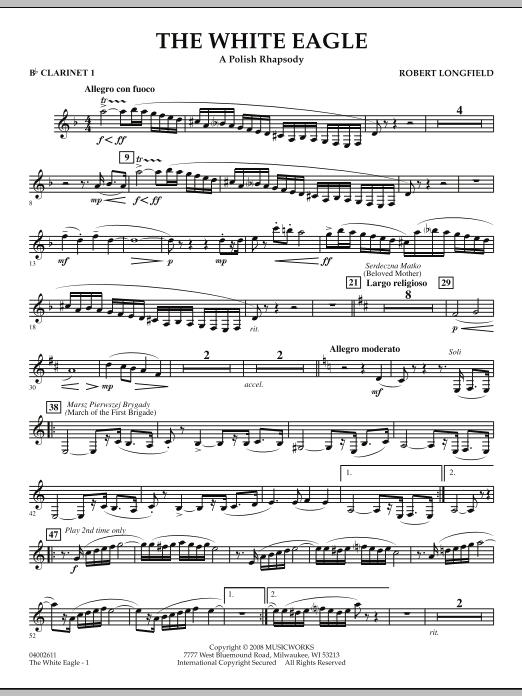 The White Eagle (A Polish Rhapsody) - Bb Clarinet 1 (Concert Band)
