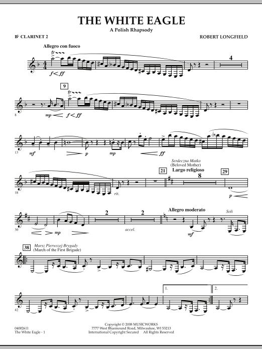 The White Eagle (A Polish Rhapsody) - Bb Clarinet 2 (Concert Band)