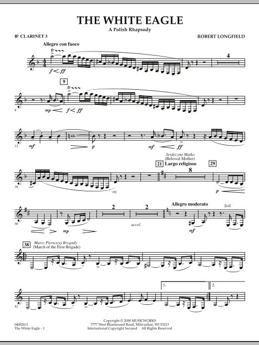 The White Eagle (A Polish Rhapsody) - Bb Clarinet 3 (Concert Band)