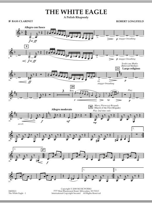 The White Eagle (A Polish Rhapsody) - Bb Bass Clarinet (Concert Band)
