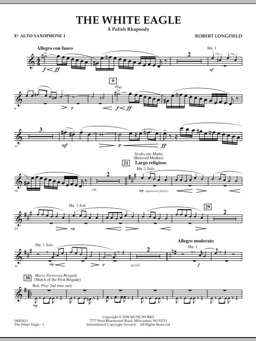 The White Eagle (A Polish Rhapsody) - Eb Alto Saxophone 1 (Concert Band)