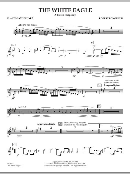 The White Eagle (A Polish Rhapsody) - Eb Alto Saxophone 2 (Concert Band)