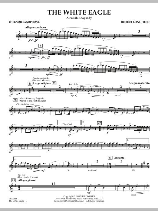 The White Eagle (A Polish Rhapsody) - Bb Tenor Saxophone (Concert Band)