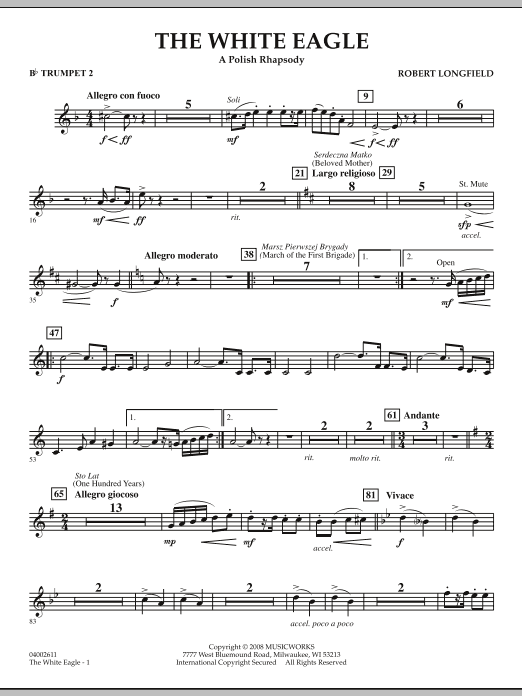 The White Eagle (A Polish Rhapsody) - Bb Trumpet 2 (Concert Band)