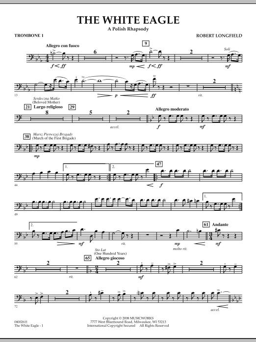 The White Eagle (A Polish Rhapsody) - Trombone 1 (Concert Band)