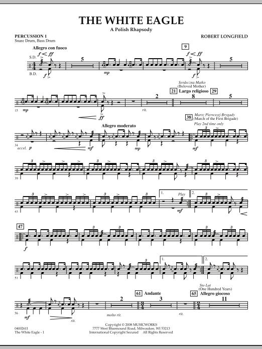 The White Eagle (A Polish Rhapsody) - Percussion 1 (Concert Band)