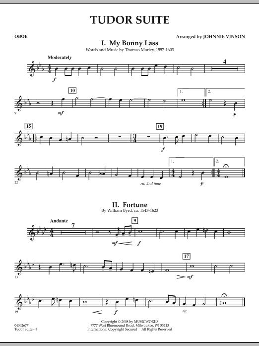 Tudor Suite - Oboe (Concert Band)
