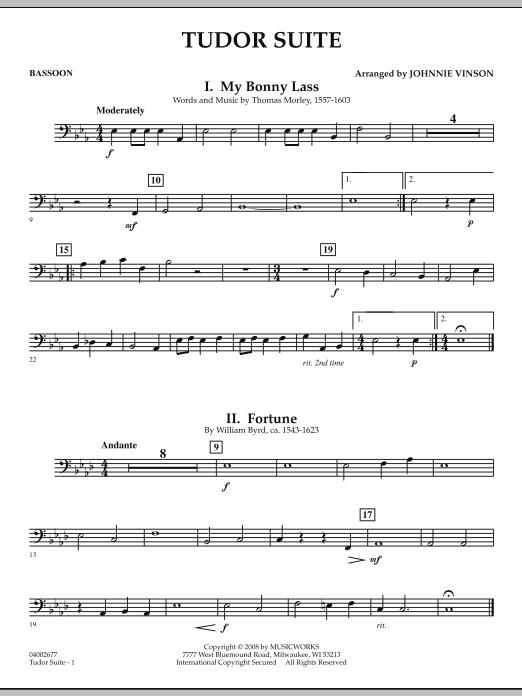 Tudor Suite - Bassoon (Concert Band)