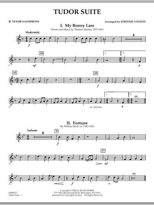 Tudor Suite - Bb Tenor Saxophone (Concert Band)