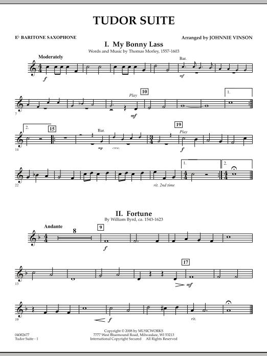 Tudor Suite - Eb Baritone Saxophone (Concert Band)