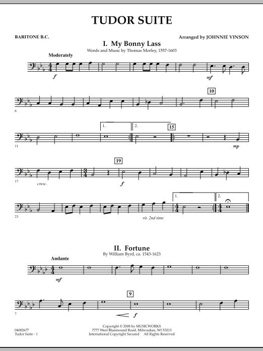 Tudor Suite - Baritone B.C. (Concert Band)
