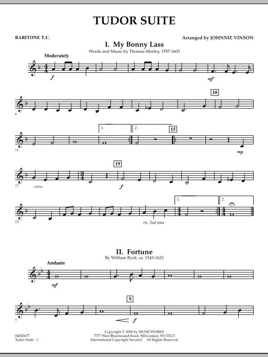Tudor Suite - Baritone T.C. (Concert Band)
