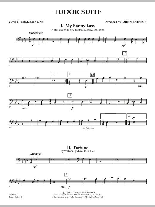 Tudor Suite - Convertible Bass Line (Concert Band)