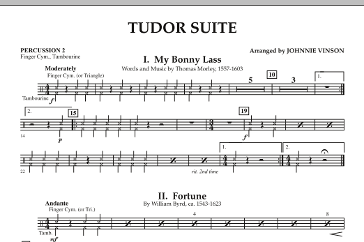 Tudor Suite - Percussion 2 (Concert Band)