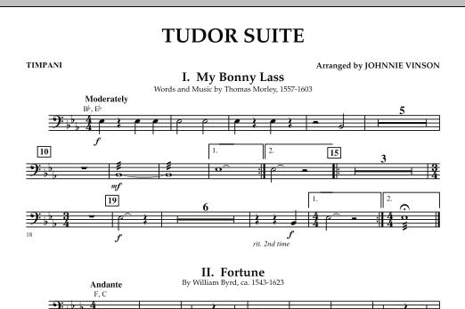 Tudor Suite - Timpani (Concert Band)