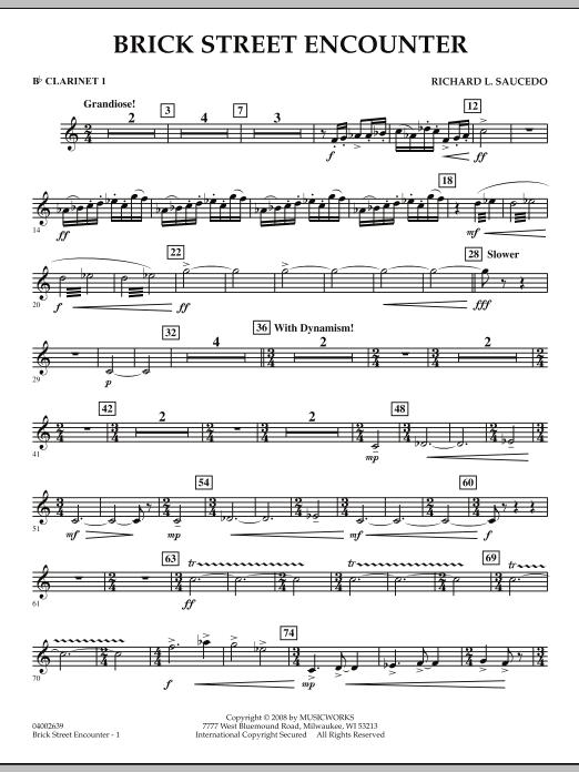 Brick Street Encounter - Bb Clarinet 1 (Concert Band)
