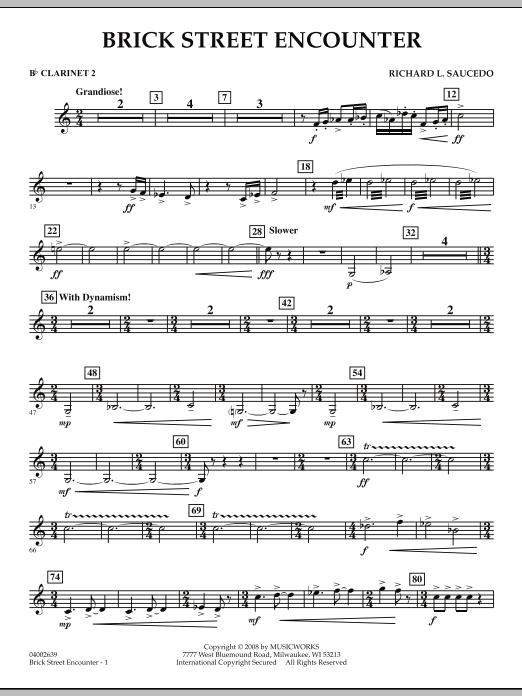 Brick Street Encounter - Bb Clarinet 2 (Concert Band)
