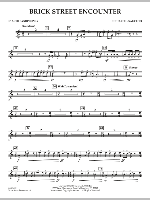 Brick Street Encounter - Eb Alto Saxophone 2 (Concert Band)