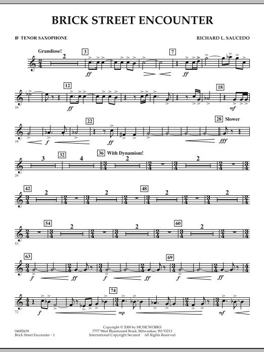 Brick Street Encounter - Bb Tenor Saxophone (Concert Band)
