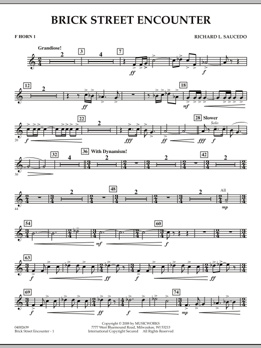 Brick Street Encounter - F Horn 1 (Concert Band)
