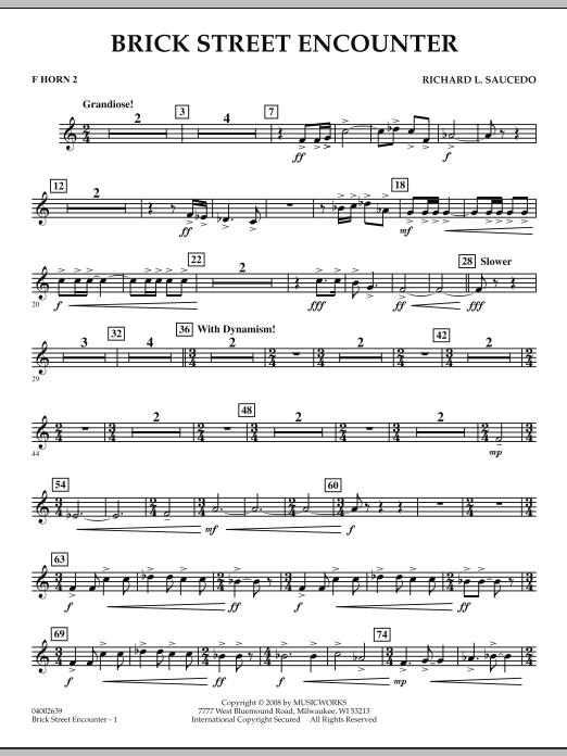 Brick Street Encounter - F Horn 2 (Concert Band)