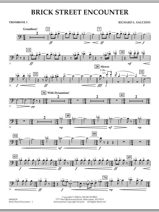 Brick Street Encounter - Trombone 1 (Concert Band)