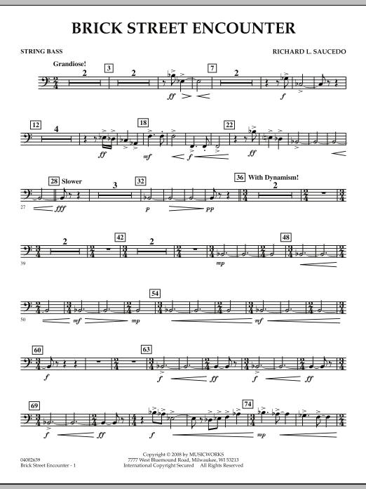 Brick Street Encounter - String Bass (Concert Band)