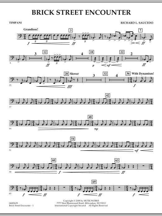 Brick Street Encounter - Timpani (Concert Band)