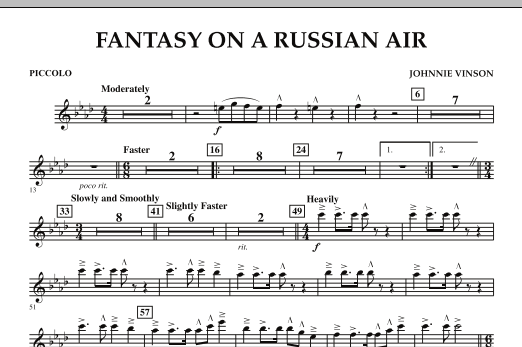 Fantasy on a Russian Air - Piccolo (Concert Band)