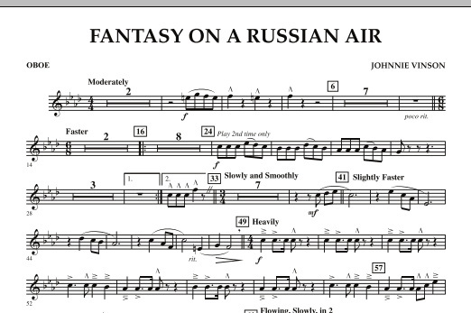 Fantasy on a Russian Air - Oboe (Concert Band)