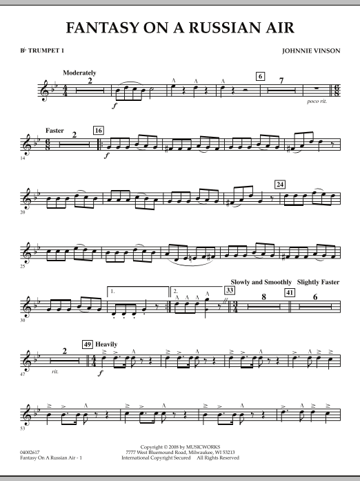 Fantasy on a Russian Air - Bb Trumpet 1 (Concert Band)