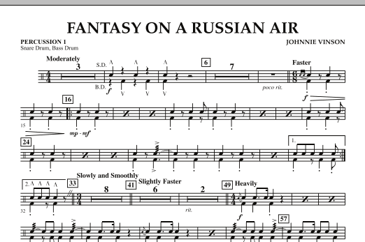 Fantasy on a Russian Air - Percussion 1 (Concert Band)