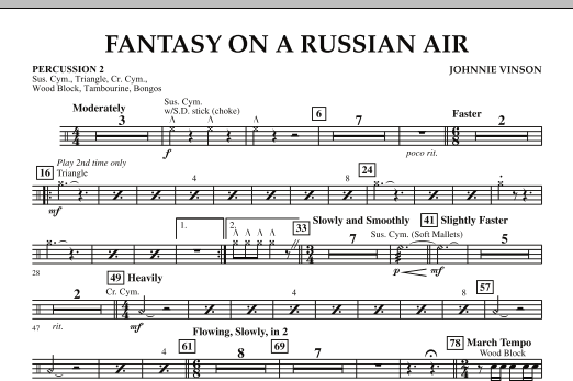 Fantasy on a Russian Air - Percussion 2 (Concert Band)