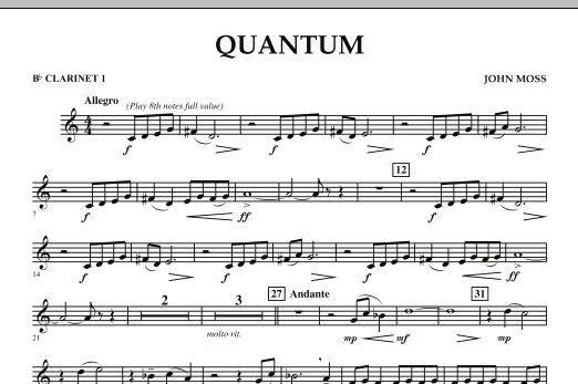 Quantum - Bb Clarinet 1 (Concert Band)