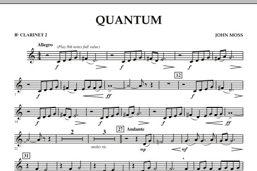 Quantum - Bb Clarinet 2 (Concert Band)