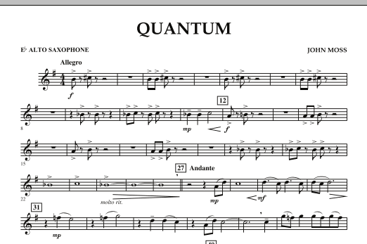 Quantum - Eb Alto Saxophone (Concert Band)
