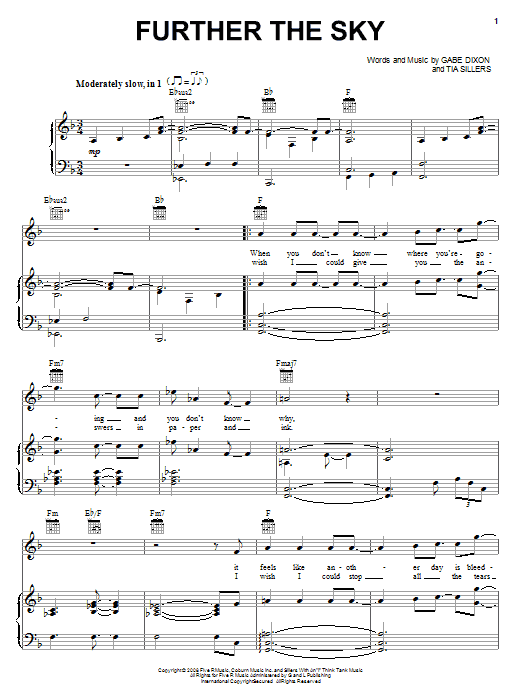 Further The Sky Sheet Music