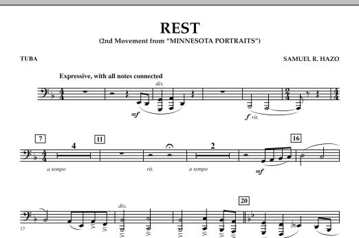 "Rest (Mvt. 2 of ""Minnesota Portraits"") - Tuba (Concert Band)"