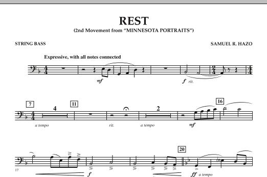 "Rest (Mvt. 2 of ""Minnesota Portraits"") - String Bass (Concert Band)"